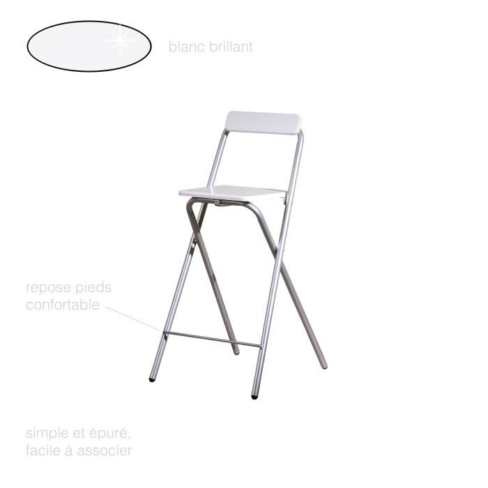 chaise haute pliable