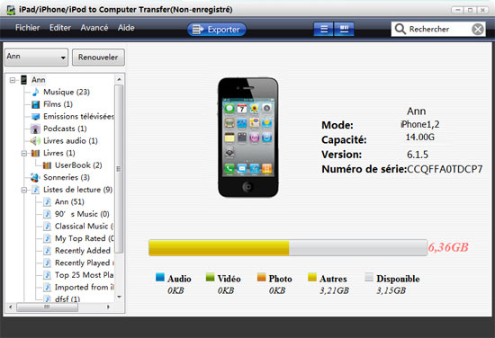 comment transferer photo iphone vers mac