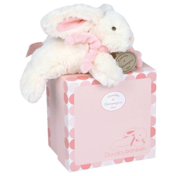 doudou et compagnie lapin rose