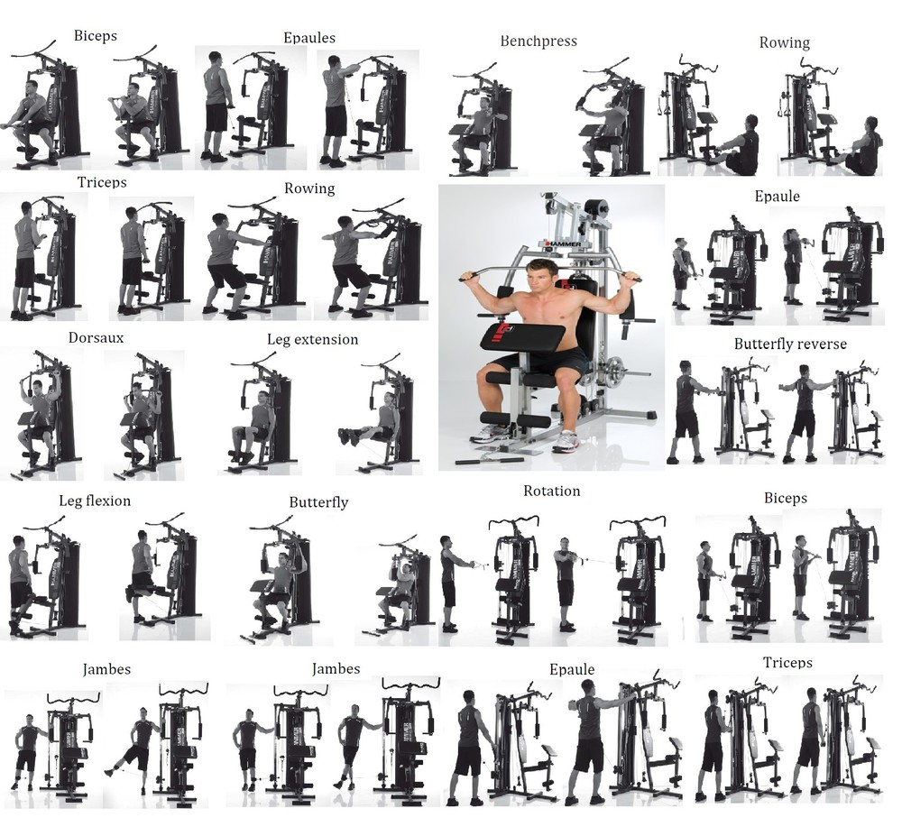 exercice banc musculation