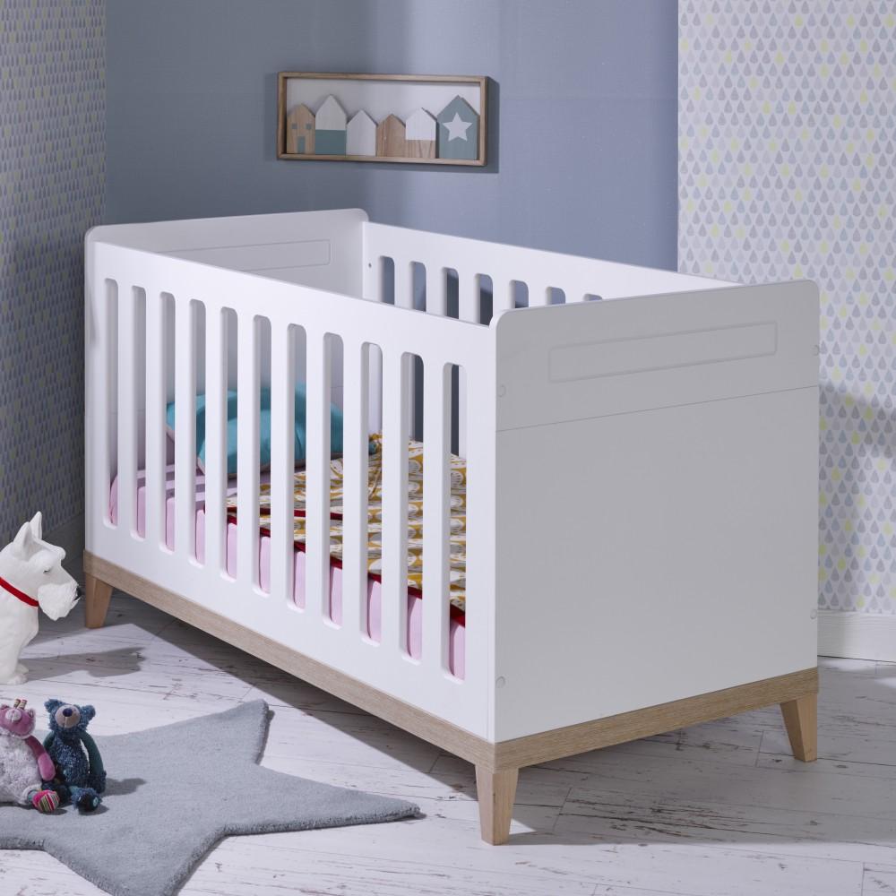 lit bebe evolutif blanc