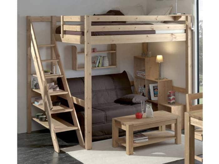 lit en hauteur 2 places