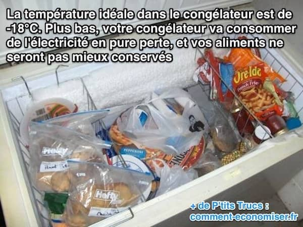 temperature congelateur