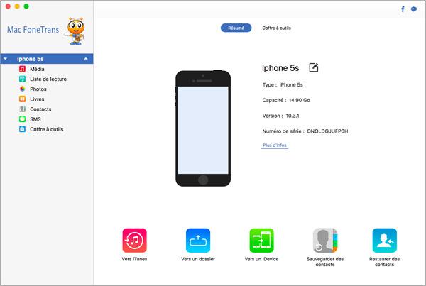 transferer photo iphone vers mac