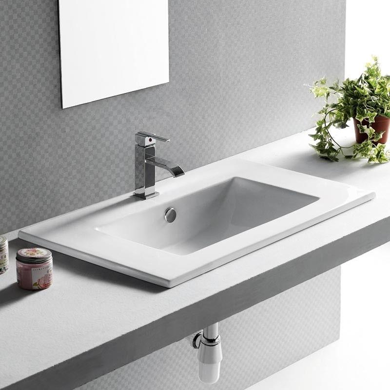vasque encastrable rectangulaire