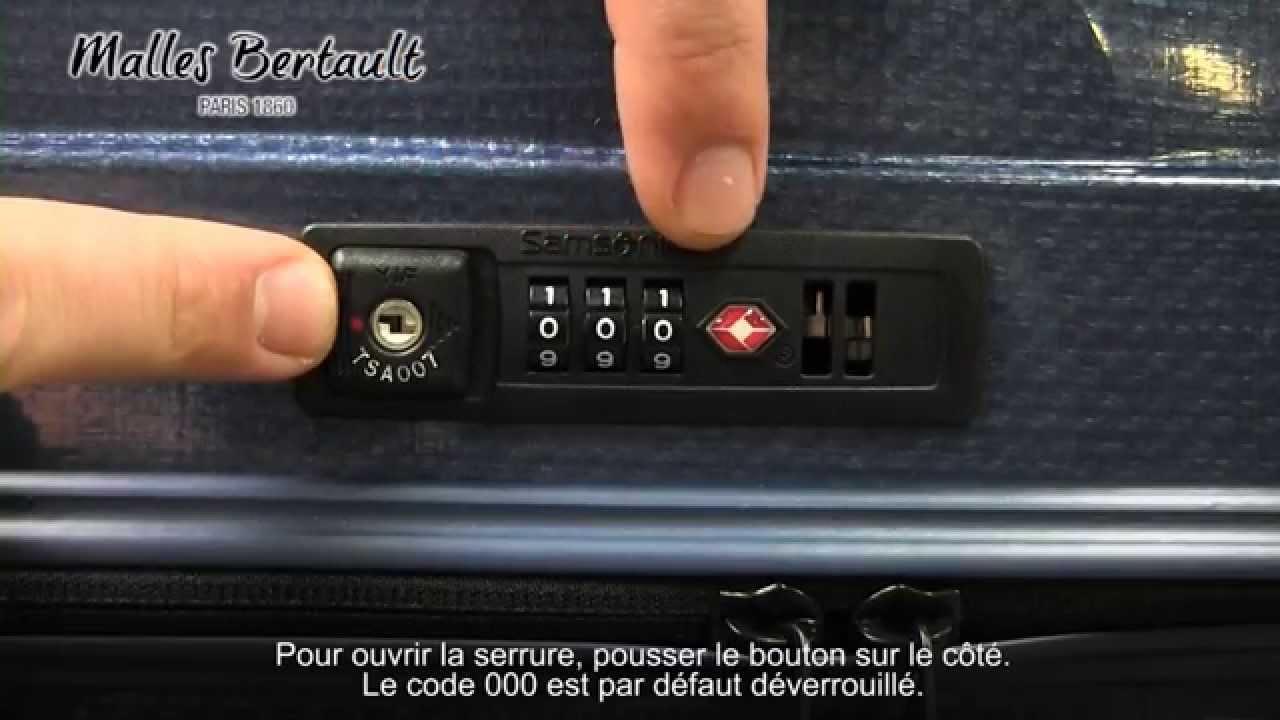 changer code valise samsonite