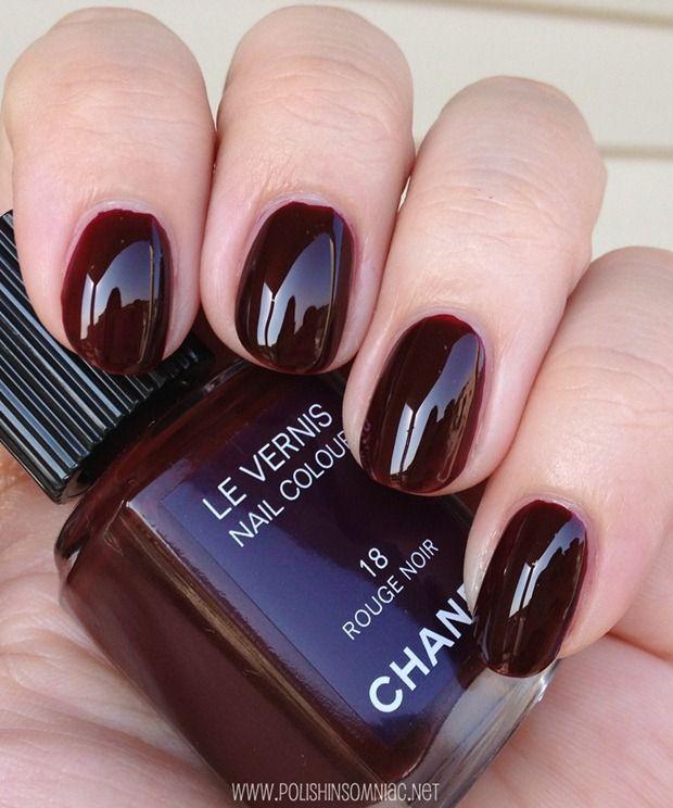vernis rouge noir chanel