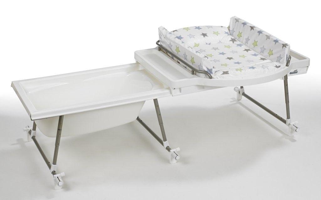 combiné baignoire table à langer