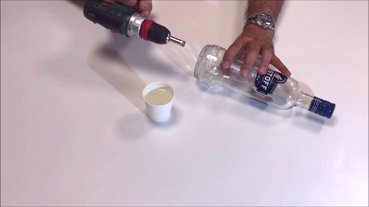 percer une bouteille en verre